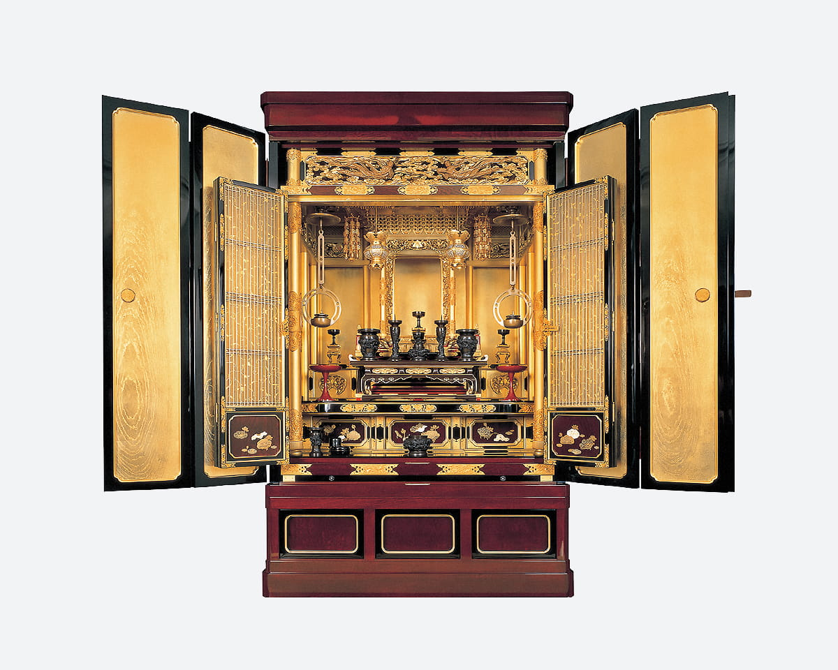 金仏壇(真宗大谷派、台付き)