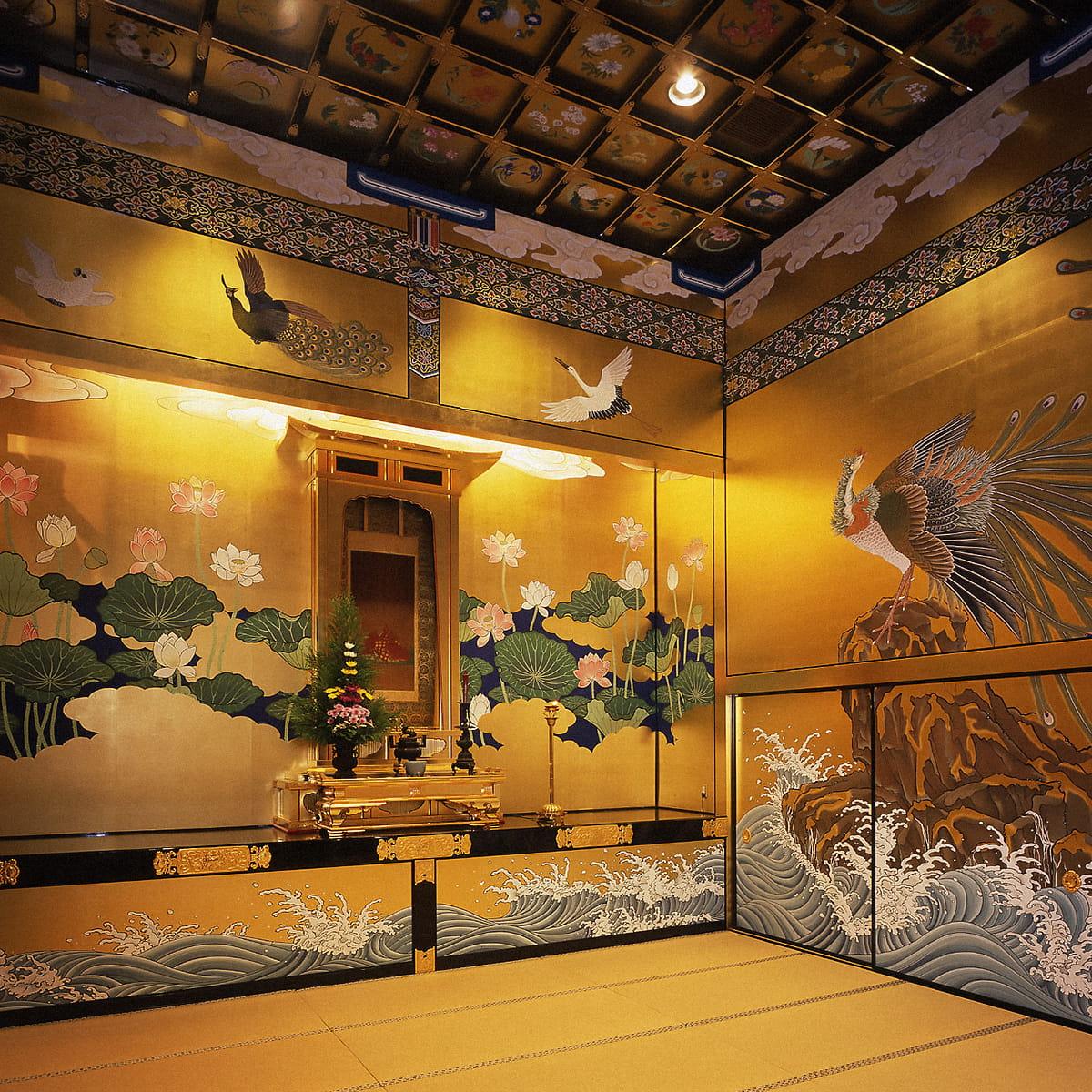 浄土真宗本願寺派 鹿児島別院様 余間障壁極彩色画