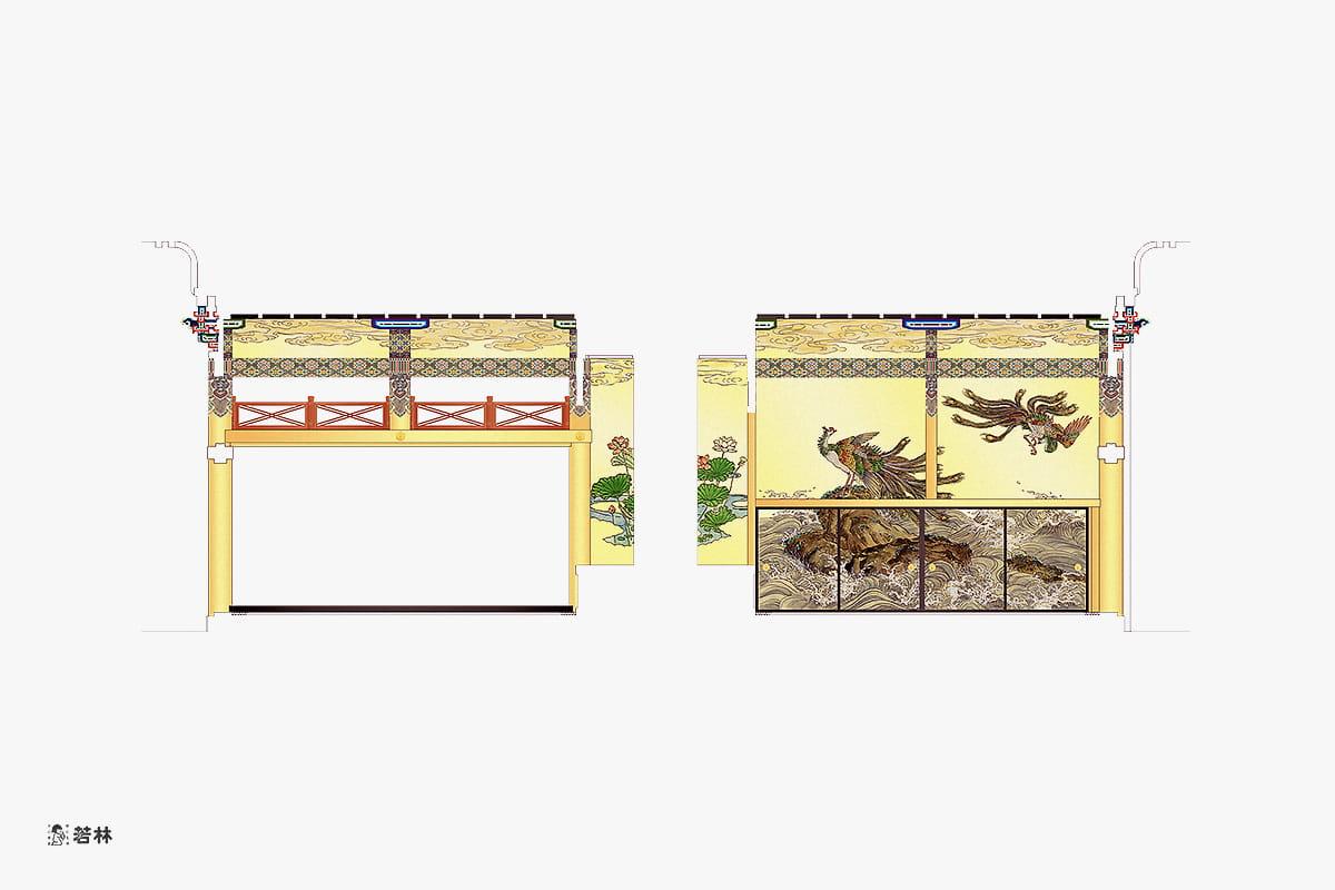 ご寺院の内装工事代表事例(提案図面)