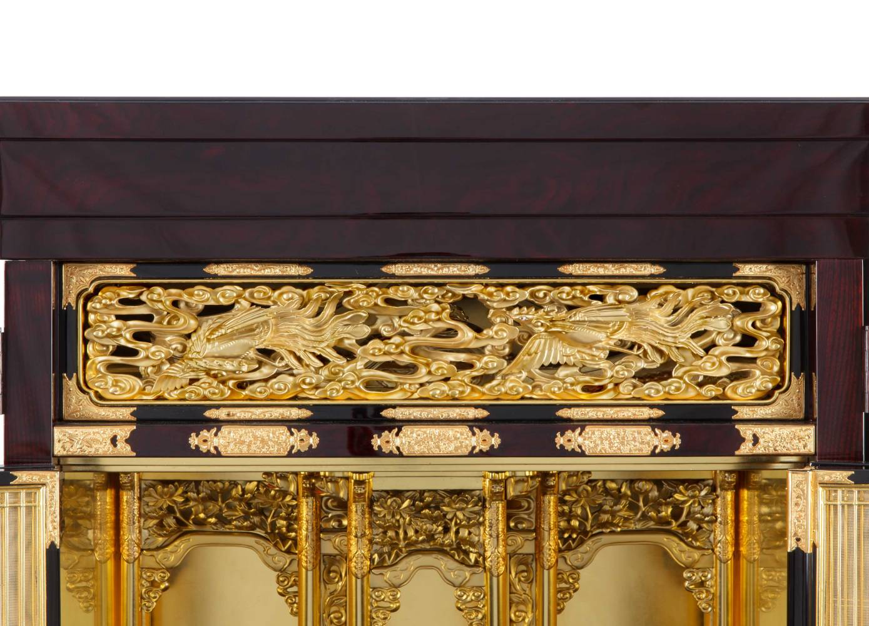 仏壇の修理・修復の工程 仏壇の修理後の欄間