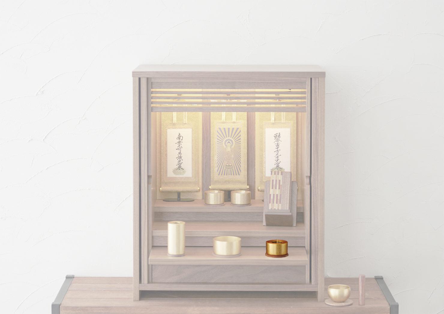 浄土真宗の仏壇の蝋燭立の飾り方