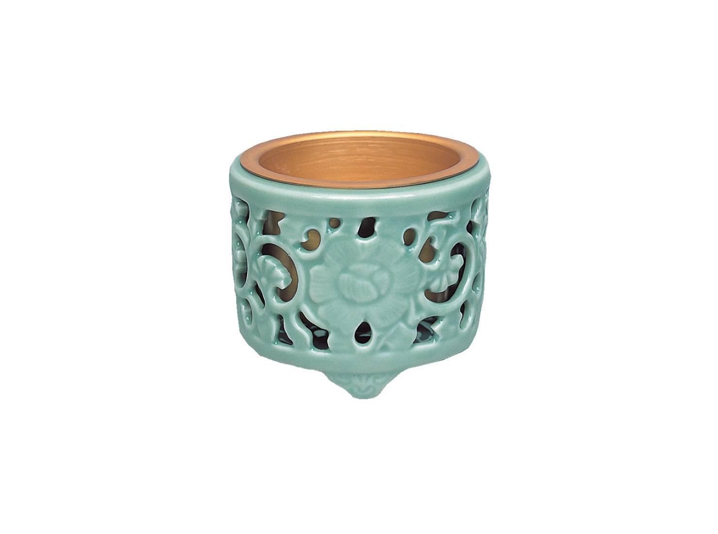 浄土真宗の真宗大谷派における正式な土香炉の牡丹透香炉