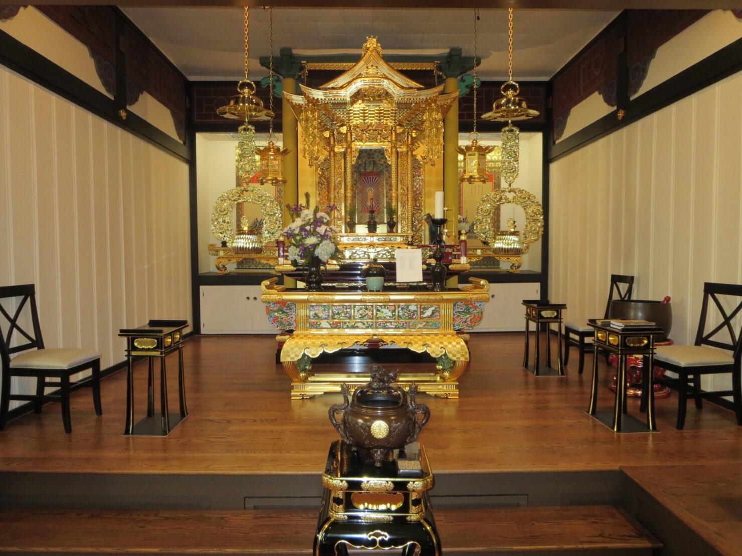 園満寺仏教会様 内陣正面